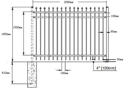 Ornamental Fence Anping County Xinqinye Wire Mesh Fence