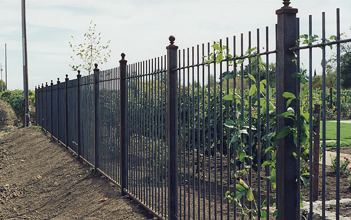 of metal fencing aluminum wrought iron and chain link all have their strong points and weak points but any of them will be a great choice to use to